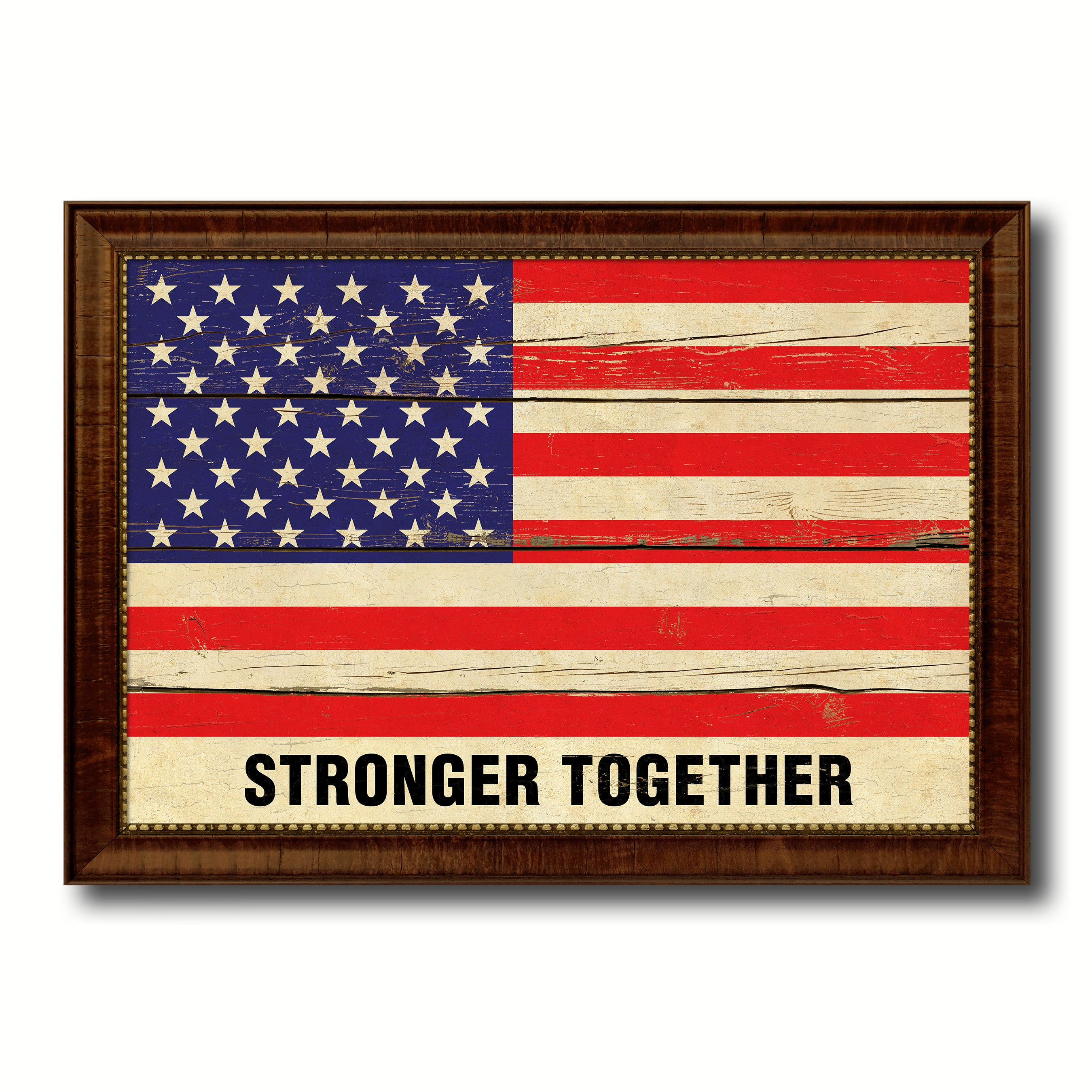 Stronger Together Hillary Clinton USA Vintage Flag Patriotic office ...