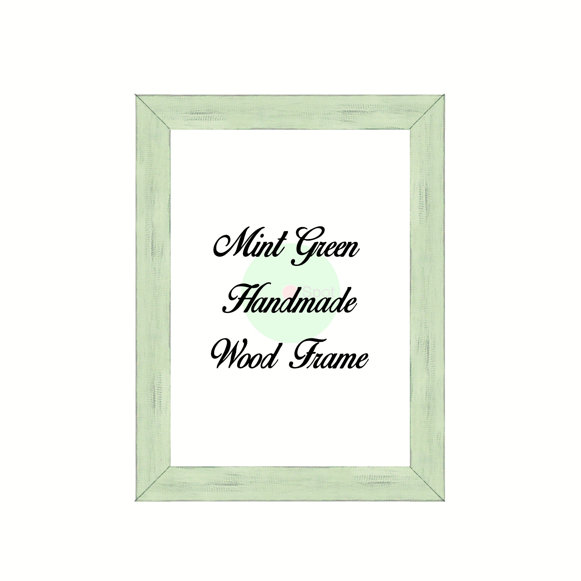 Mint Green Wood Frame Wholesale Farmhouse Shabby Chic Picture Photo Poster Art Home Decor