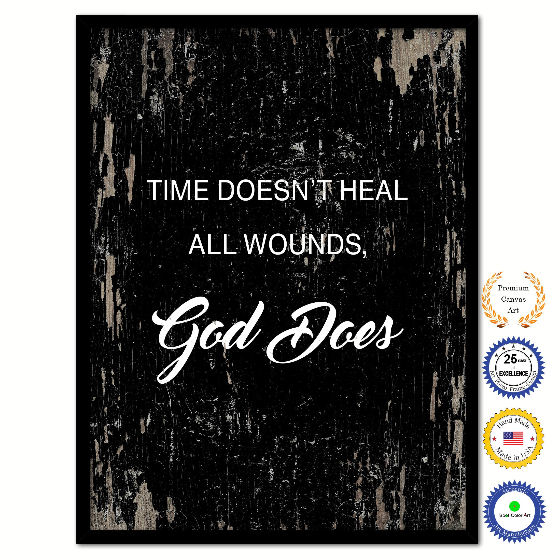 Time Doesnt Heal All Wounds God Does Inspirational Bible Verse