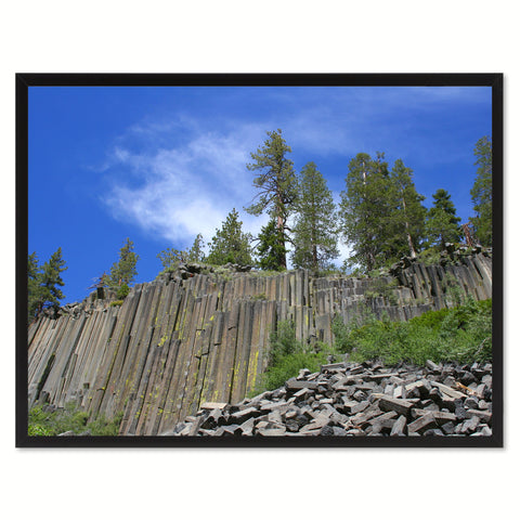 Devil Postpile National Monument Landscape Photo Canvas Print Pictures Frames Home Décor Wall Art Gifts