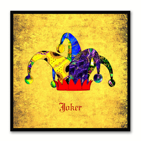 Joker Yellow Canvas Print Black Frame Kids Bedroom Wall Home Décor