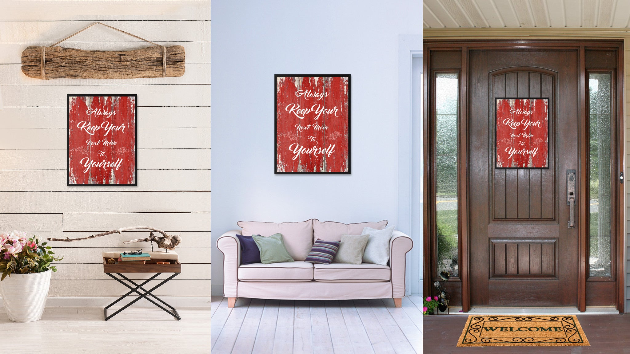 Always Keep Your Next Move to Yourself Motivation Quote Saying Gift Ideas Home Décor Wall Art