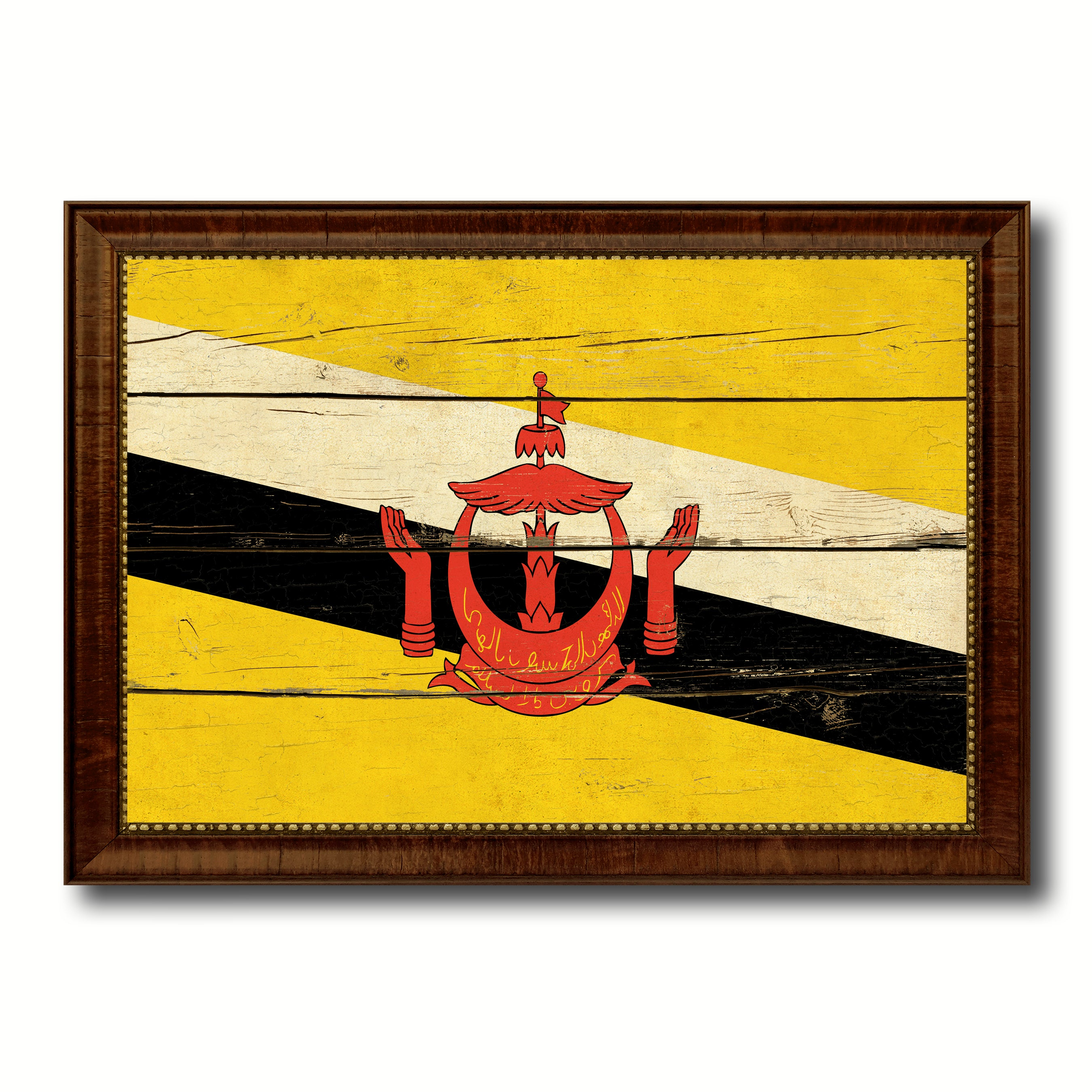 Brunei Country Vintage Flag Home Decor Gift Ideas Wall Art ...
