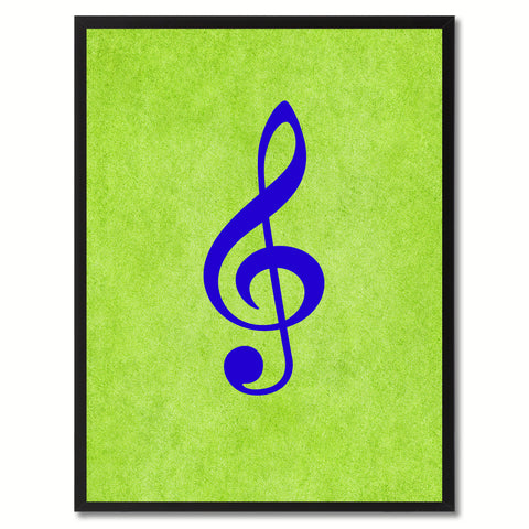 Treble Music Green Canvas Print Pictures Frames Office Home Décor Wall Art Gifts
