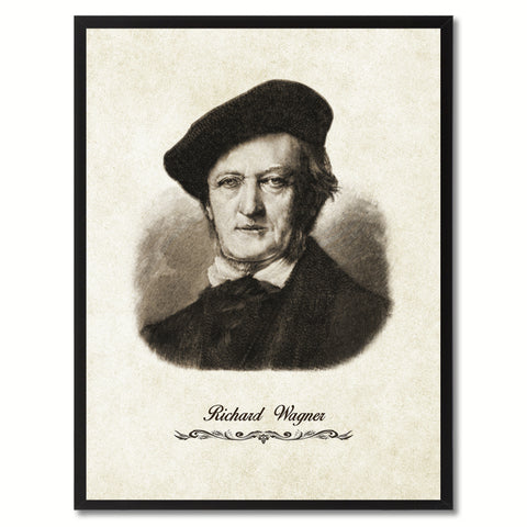 Wagner Musician Canvas Print Pictures Frames Music Home Décor Wall Art Gifts