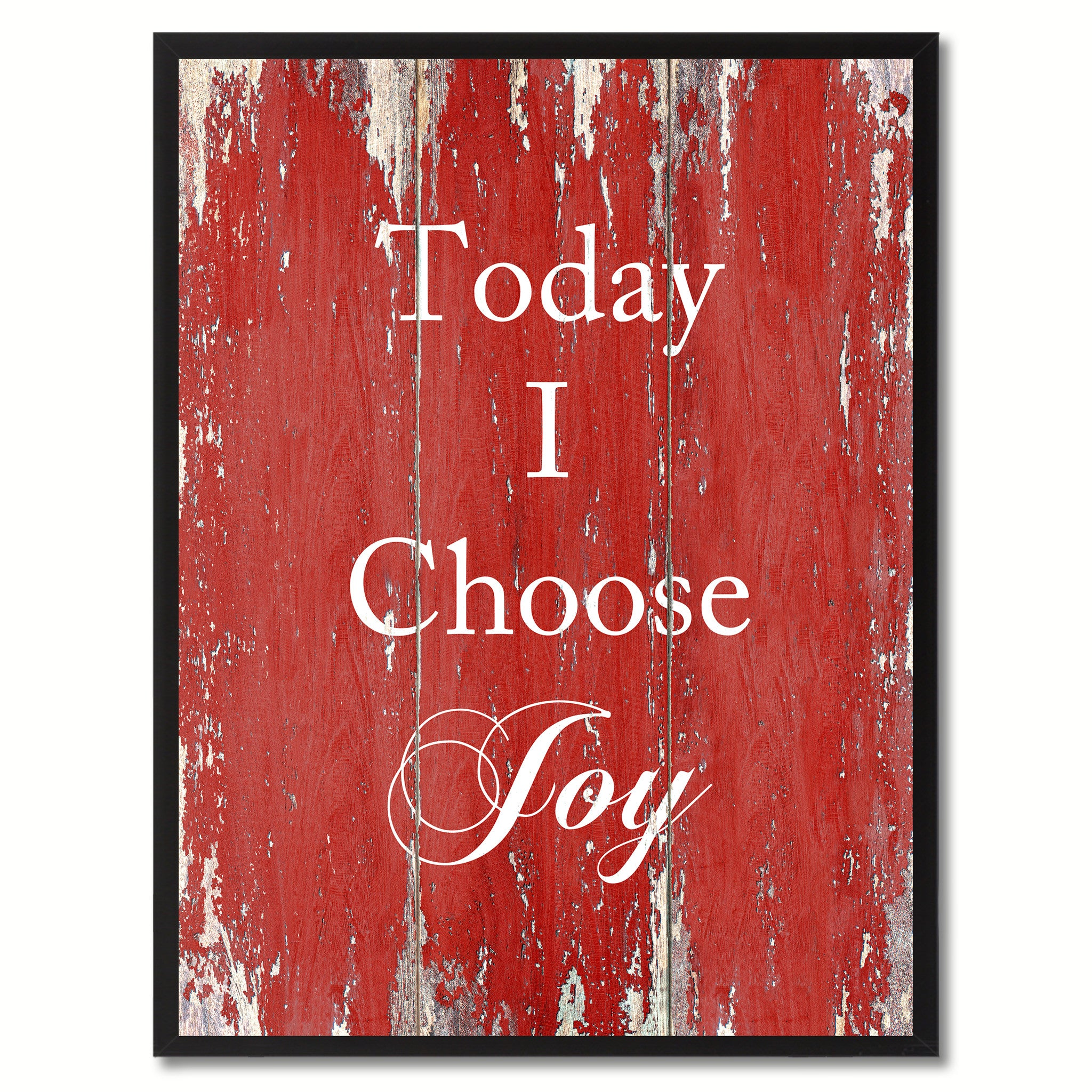 Today I Choose Joy Saying Canvas Print, Black Picture Frame Home Decor Wall Art Gifts