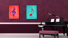 Quaver Music Aqua Canvas Print Pictures Frames Office Home Décor Wall Art Gifts