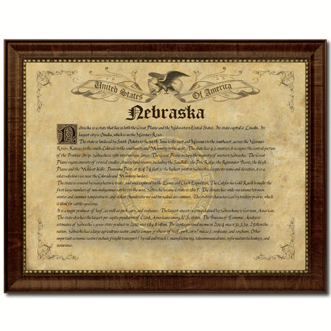 Nebraska Vintage History Flag Canvas Print, Picture Frame Gift Ideas Home Décor Wall Art Decoration