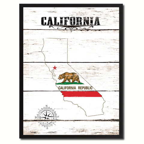 California State Flag Gifts Home Decor Wall Art Canvas Print Picture Frames