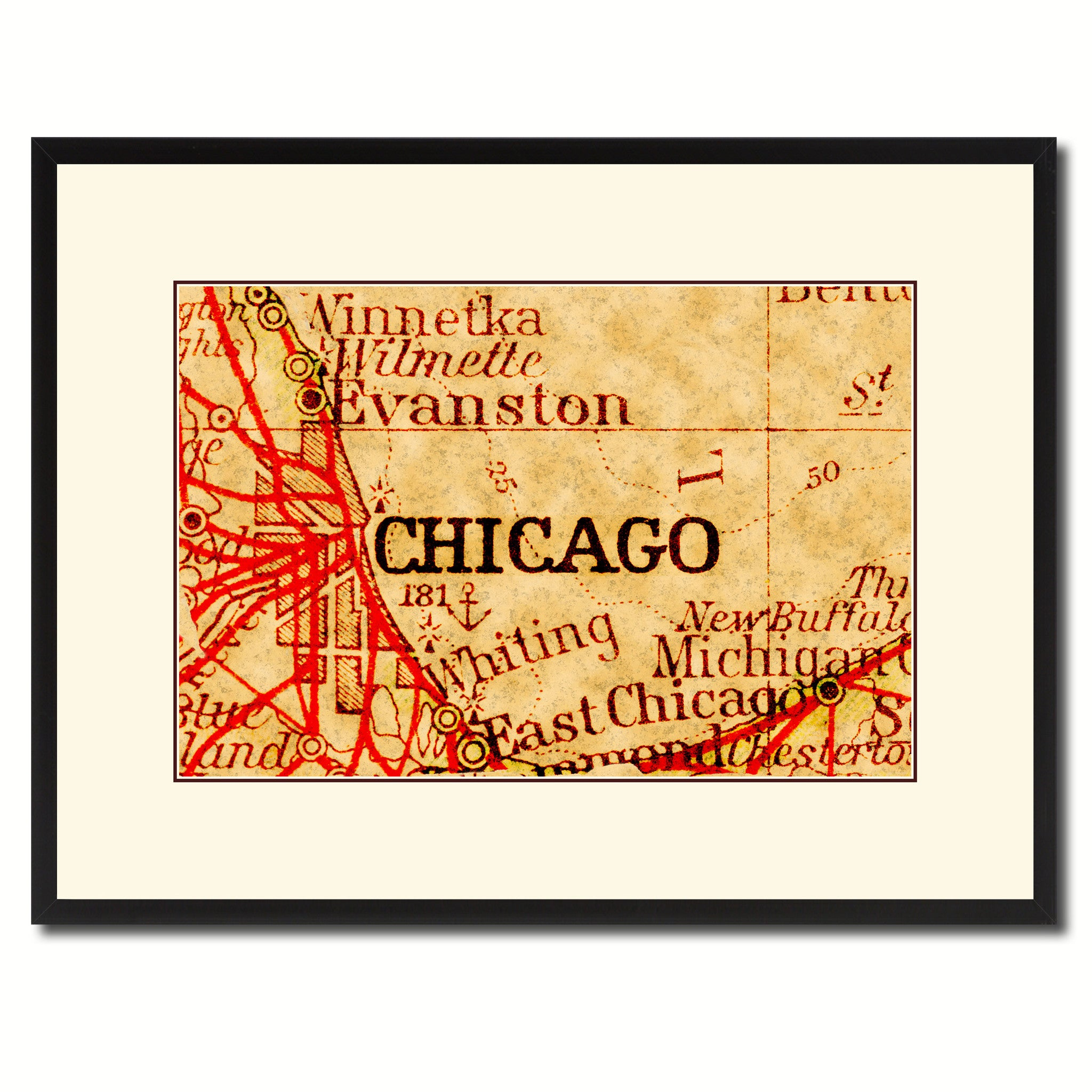 Chicago Illinois Vintage Antique Map Wall Art Home Decor Gift Ideas on chicago illinois map, chicago road map with numbers, chicago map vintage, chicago wall murals, chicago sculpture wall colors, chicago map wallpaper, chicago street block numbers, chicago neighborhood map, chicago state map, chicago map fabric, chicago map glass, chicago map design, chicago map canvas, chicago skyline 2014, chicago wall decor, chicago black, chicago street map, chicago metro map, chicago map artwork, chicago map coasters,
