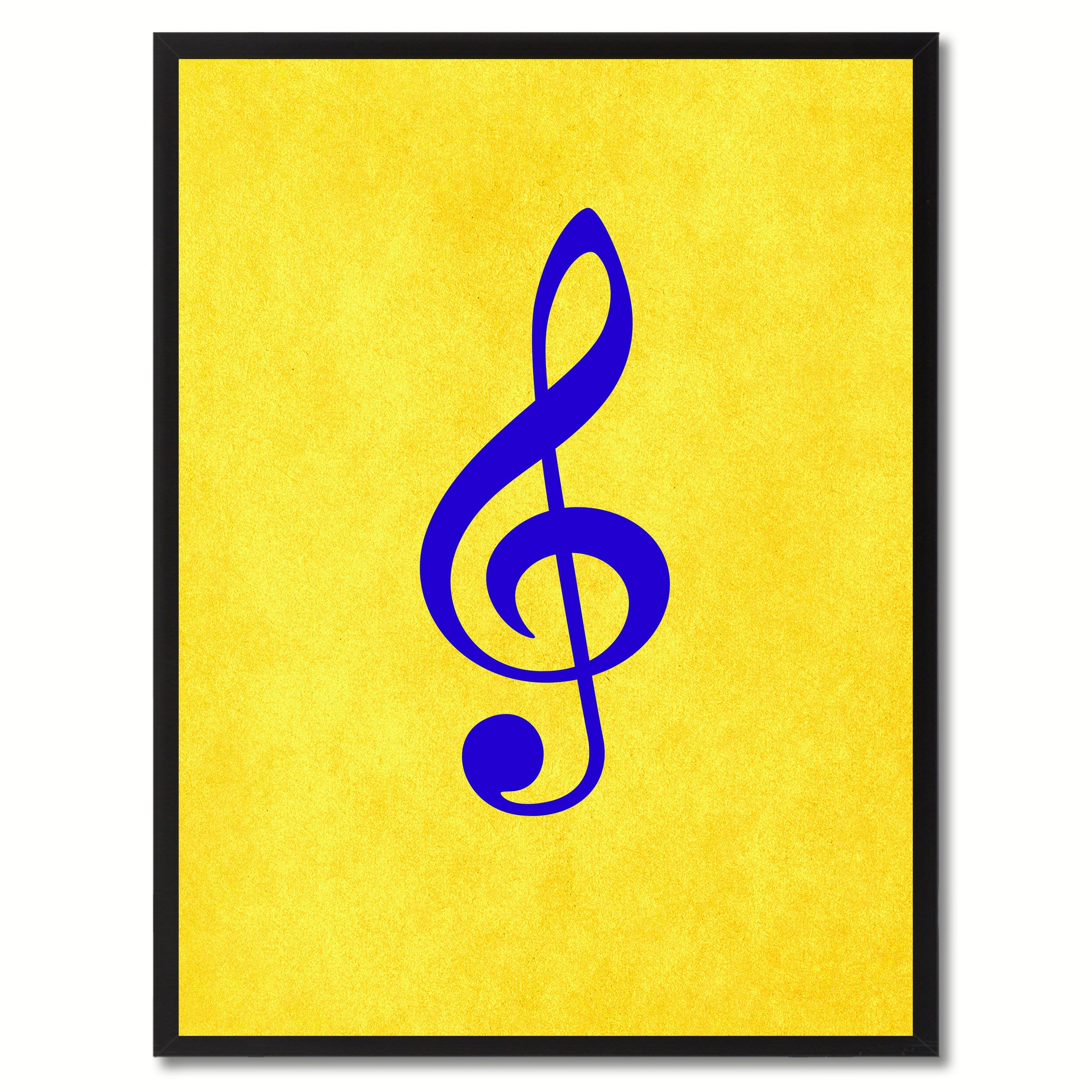Treble Music Yellow Canvas Print Pictures Frames Office Home Décor Wall Art Gifts
