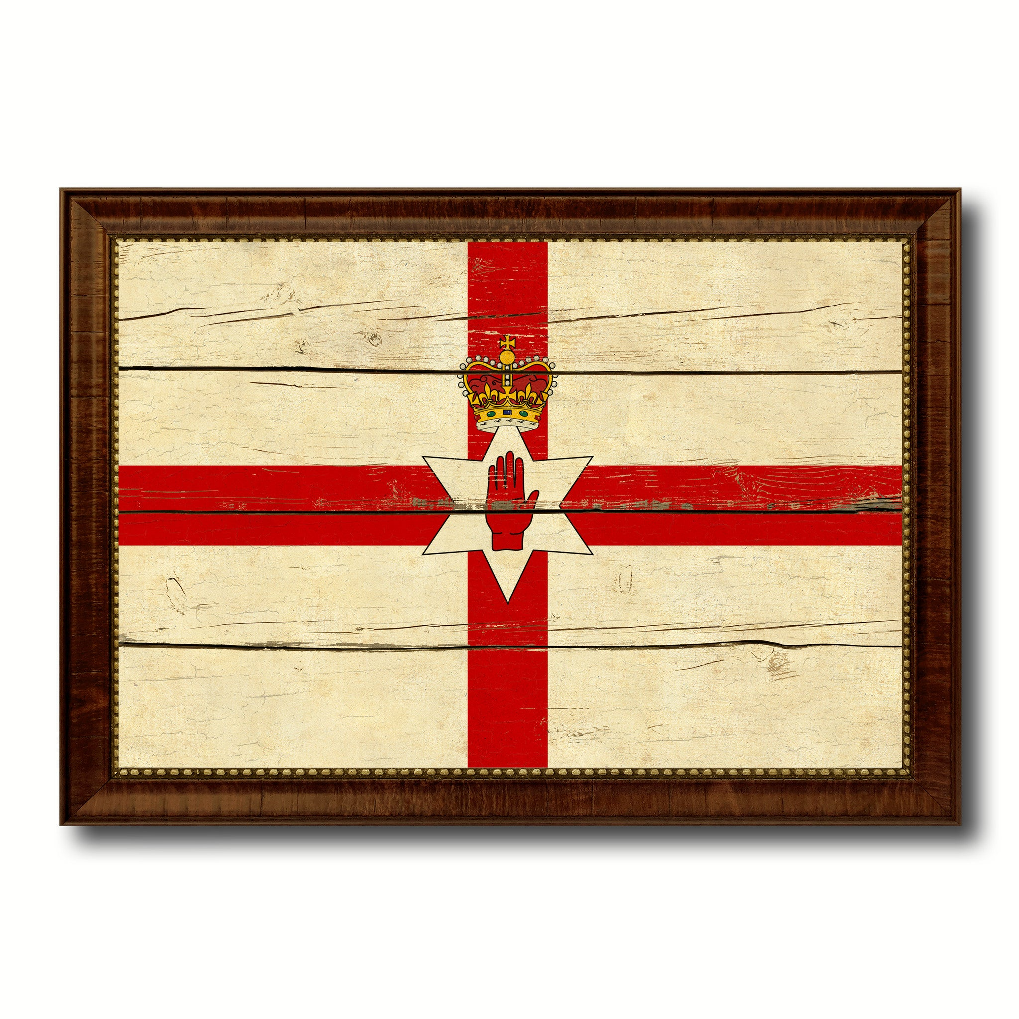 North Irish Ulster City Northern Ireland Country Vintage Flag Home ...