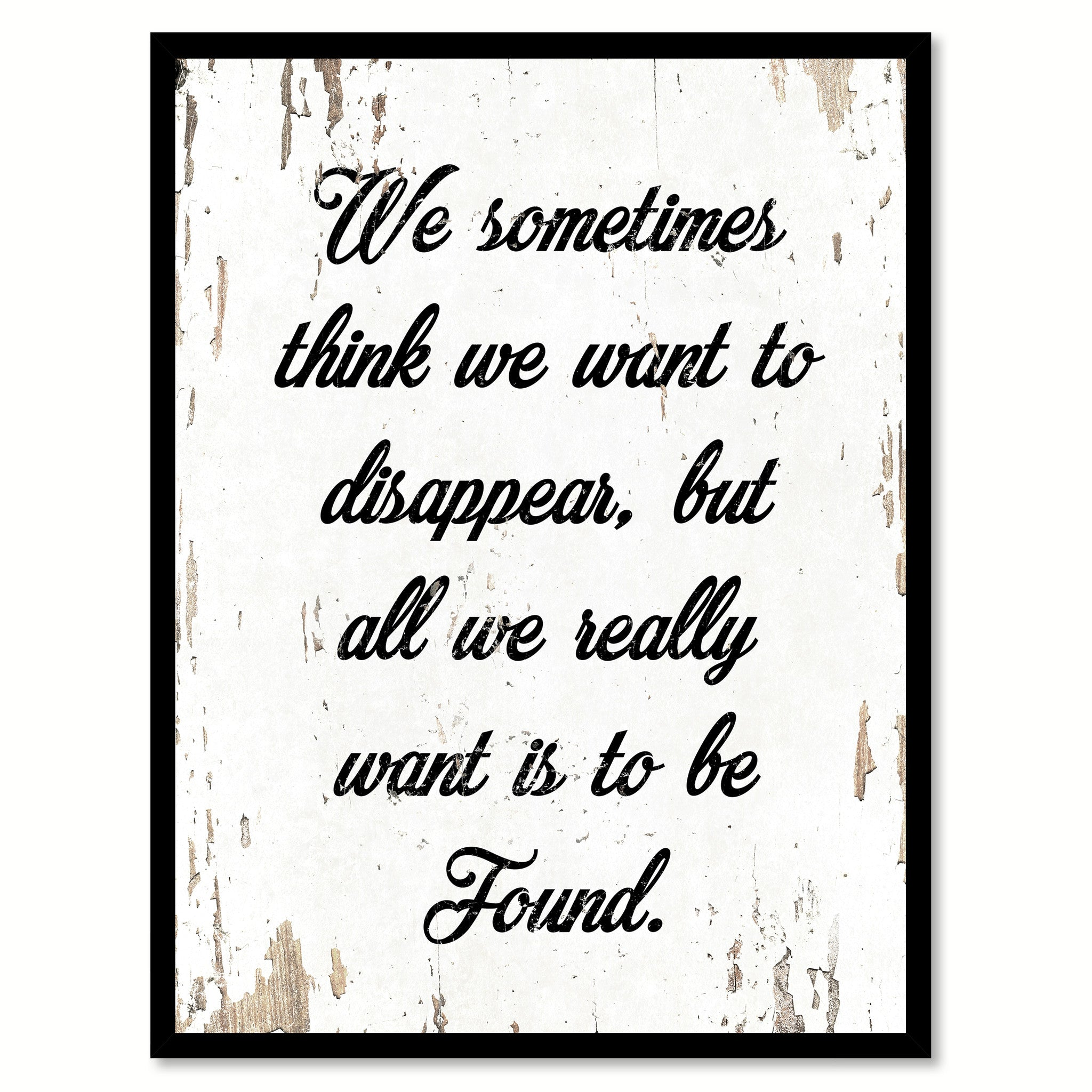 office motivation ideas. We Sometimes Think Want To Disappear Quote Saying Home Decor Wall Art Gift Ideas 111902 Office Motivation W