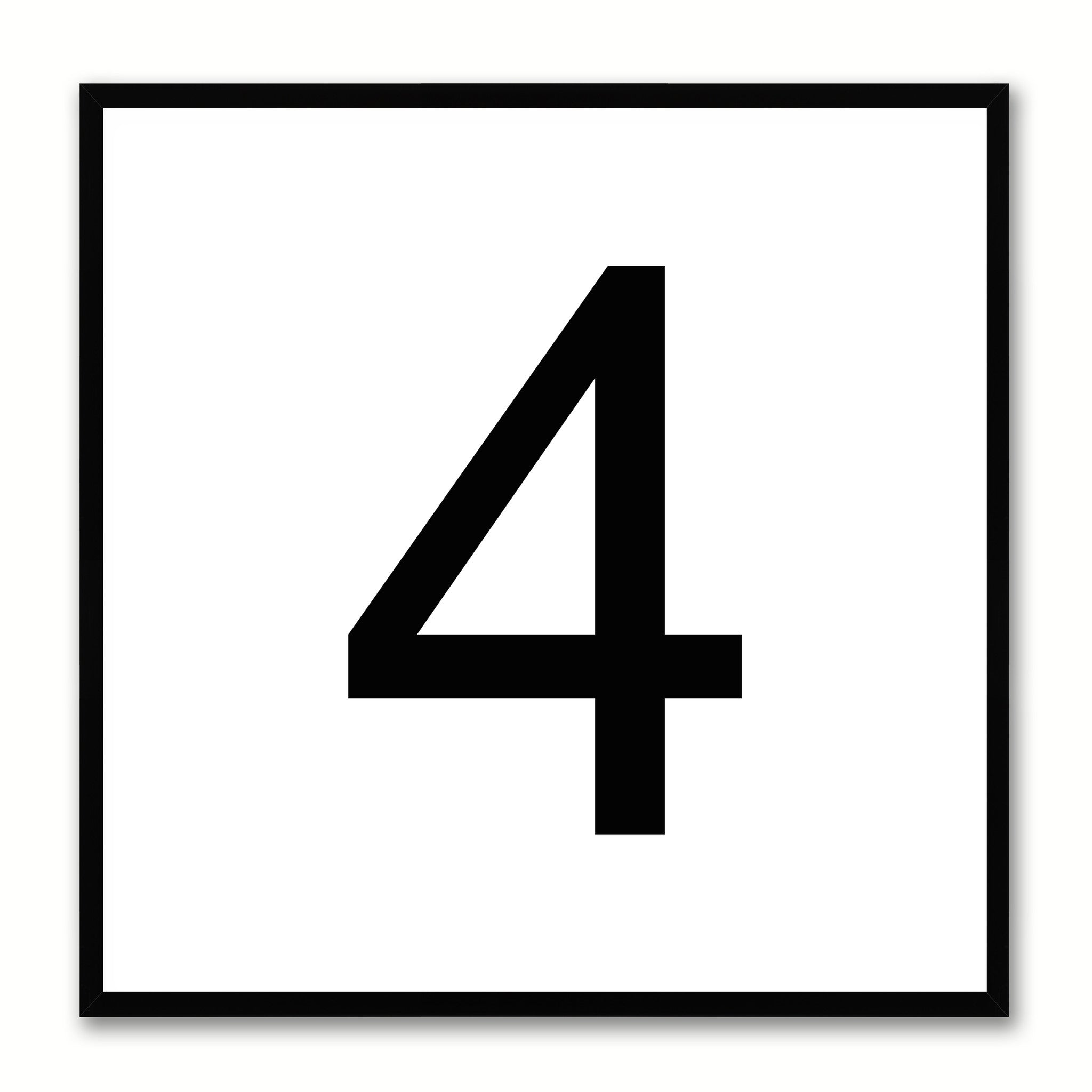 Number Four Kids Bedroom Gift Decorative Wall Art Room Home Dcor