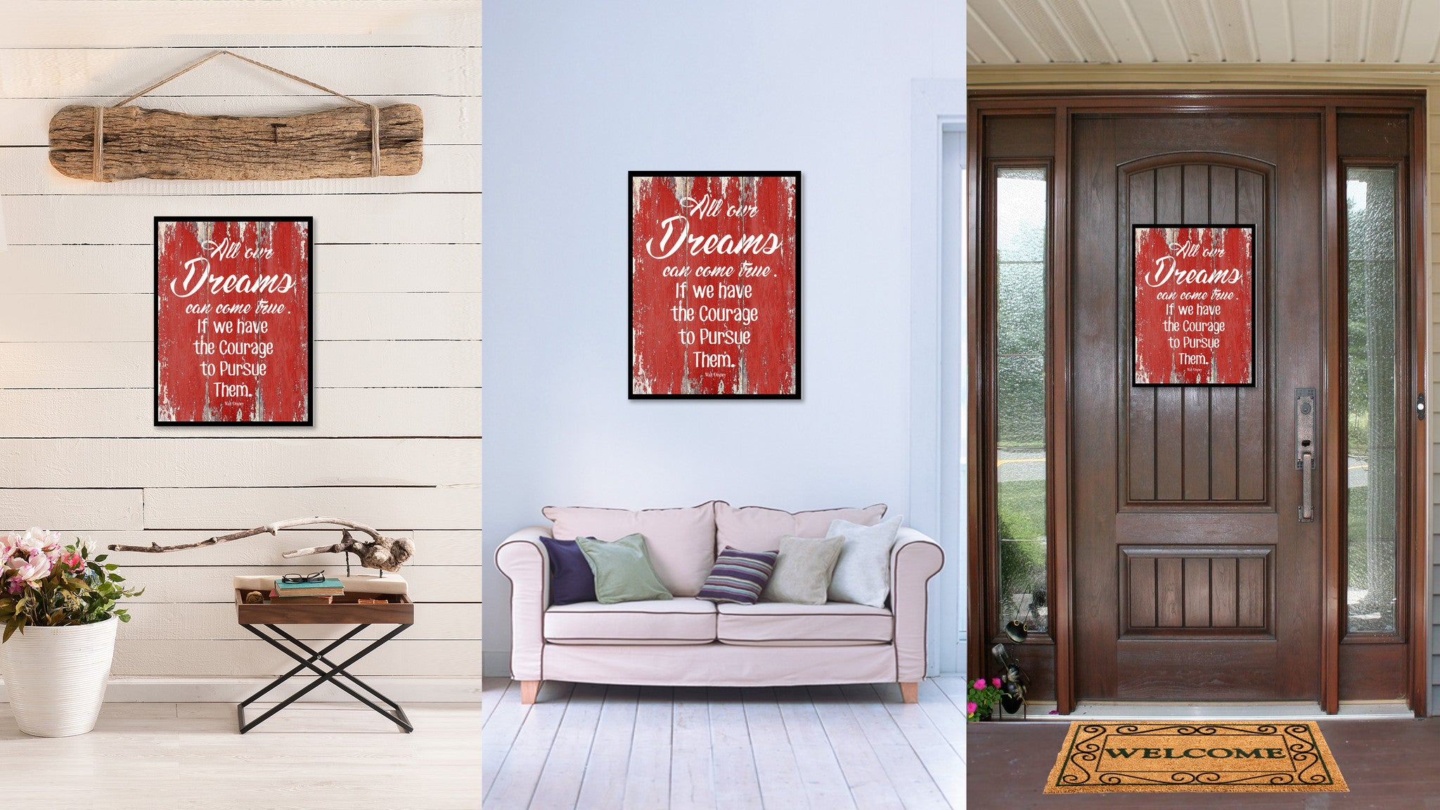 All Our Dreams Can Come True Walt Disney Inspirational Quote Saying Gift Ideas Home Decor Wall