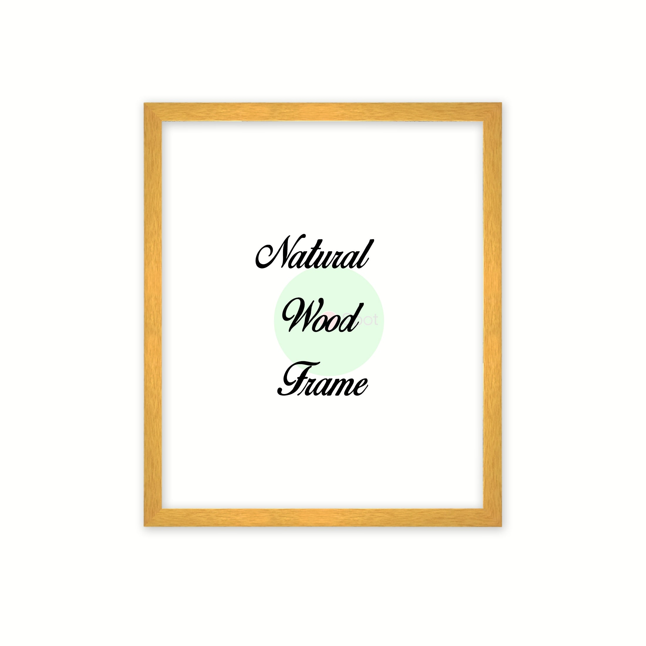 Natural Wood Frame Signature Frames Perfect Modern Comtemporary Photo Art Gallery Poster Photograph Home Decor