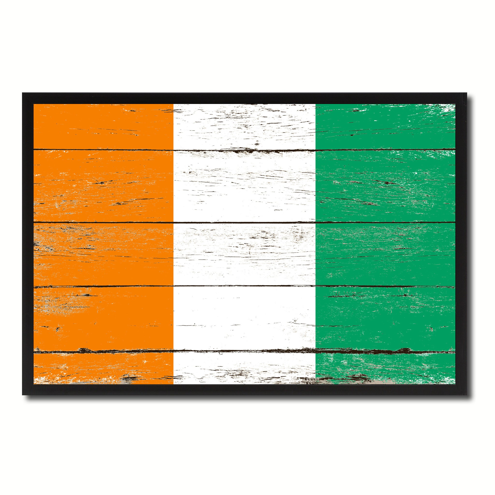 Cote D'Ivoire Country National Flag Vintage Canvas Print with Picture Frame Home Decor Wall Art Collection Gift Ideas