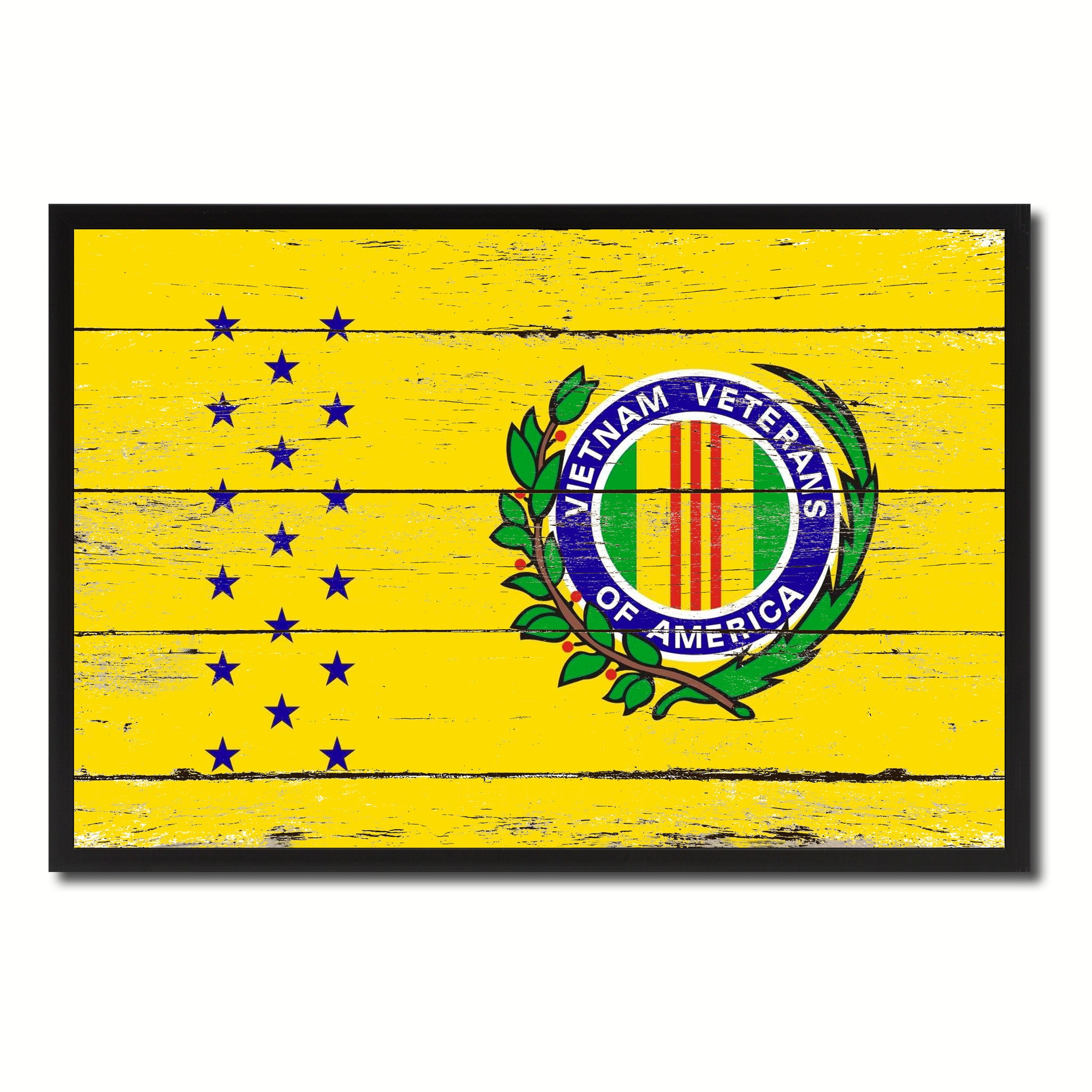 Vietnam War American Veterans Military Flag Shabby Chic Patriotic Wall Art Home Decor Livingroom Gift Ideas Office Decoration SpotColorArt
