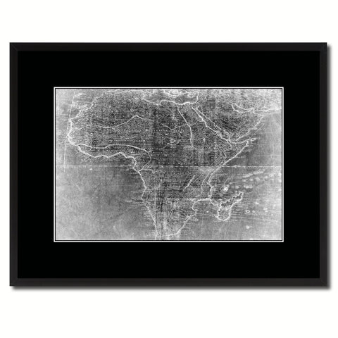 Africa Mapmaker Vintage Monochrome Map Canvas Print, Gifts Picture Frames Home Decor Wall Art