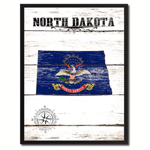 North Dakota State Flag Gifts Home Decor Wall Art Canvas Print Picture Frames