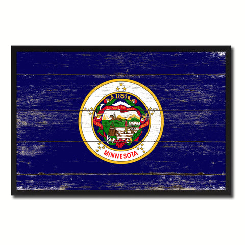 Minnesota Flag Canvas Print, Picture Frame Gift Ideas Home Décor Wall Art Decoration