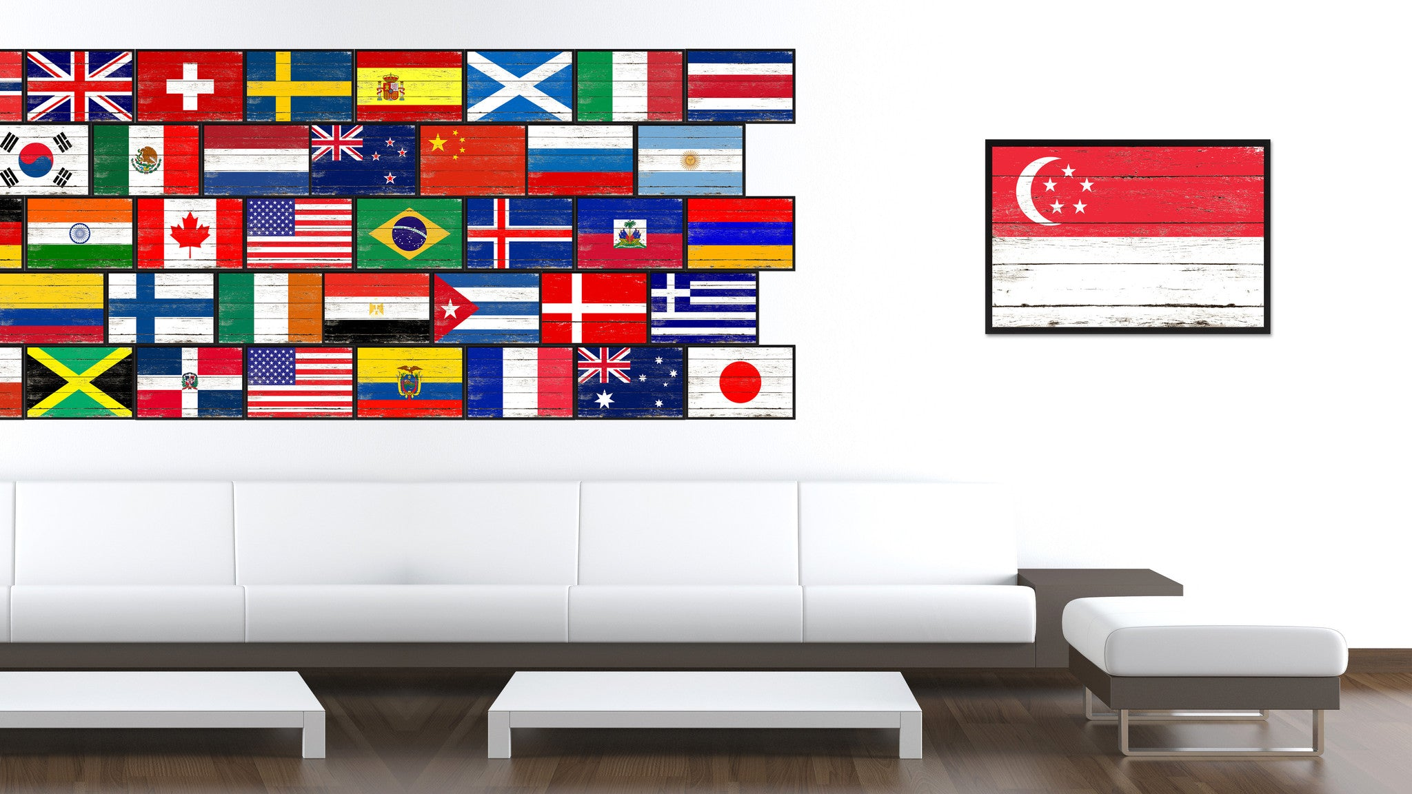 Singapore Country National Flag Home Decor Gift Ideas Wall Bedroom ...