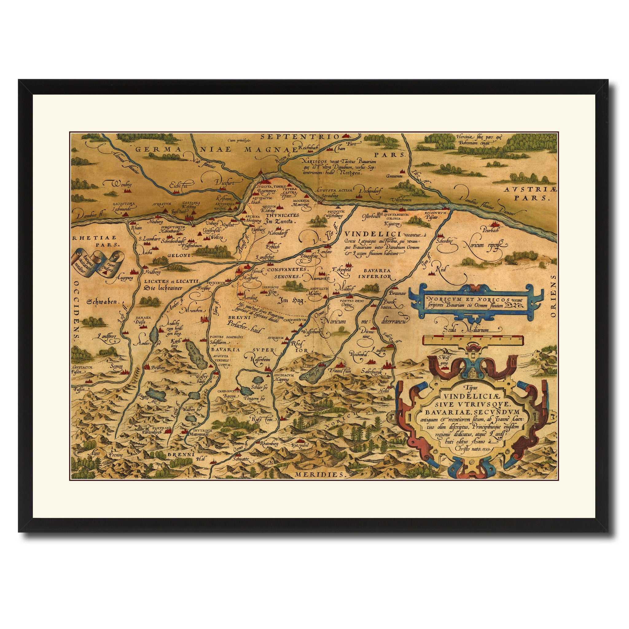 Germany Bavaria Vintage Antique Map Wall Art Home Decor Gift Ideas Canvas Print Ebay