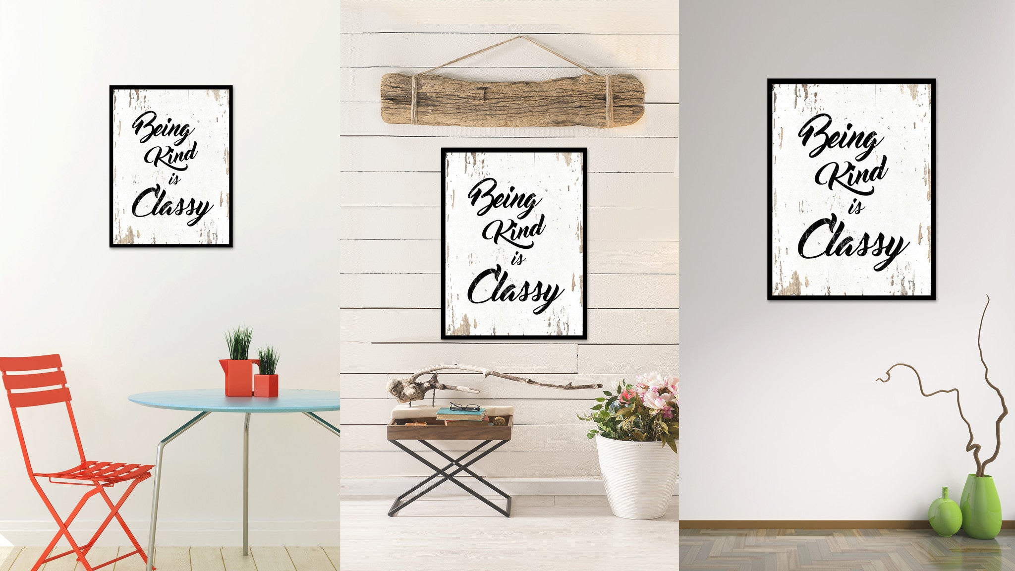 Being Kind Is Classy Motivation Quote Saying Gift Ideas Home Decor Wall Art 111466