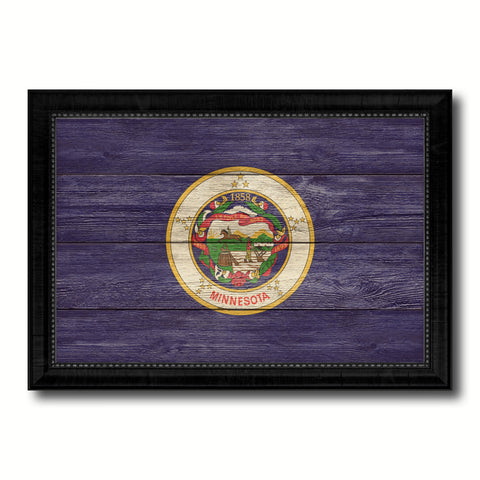 Minnesota Vintage History Flag Canvas Print, Picture Frame Gift Ideas Home Décor Wall Art Decoration