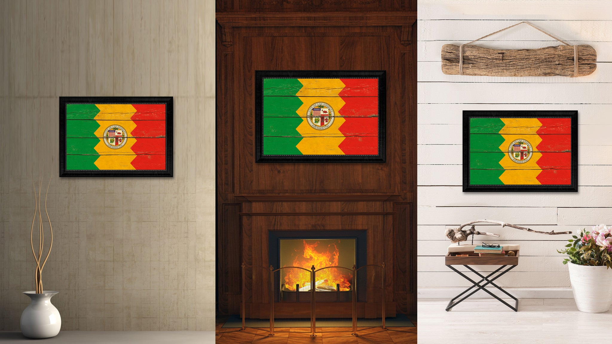 Los Angeles City California State Vintage Flag Home Decor Office ...