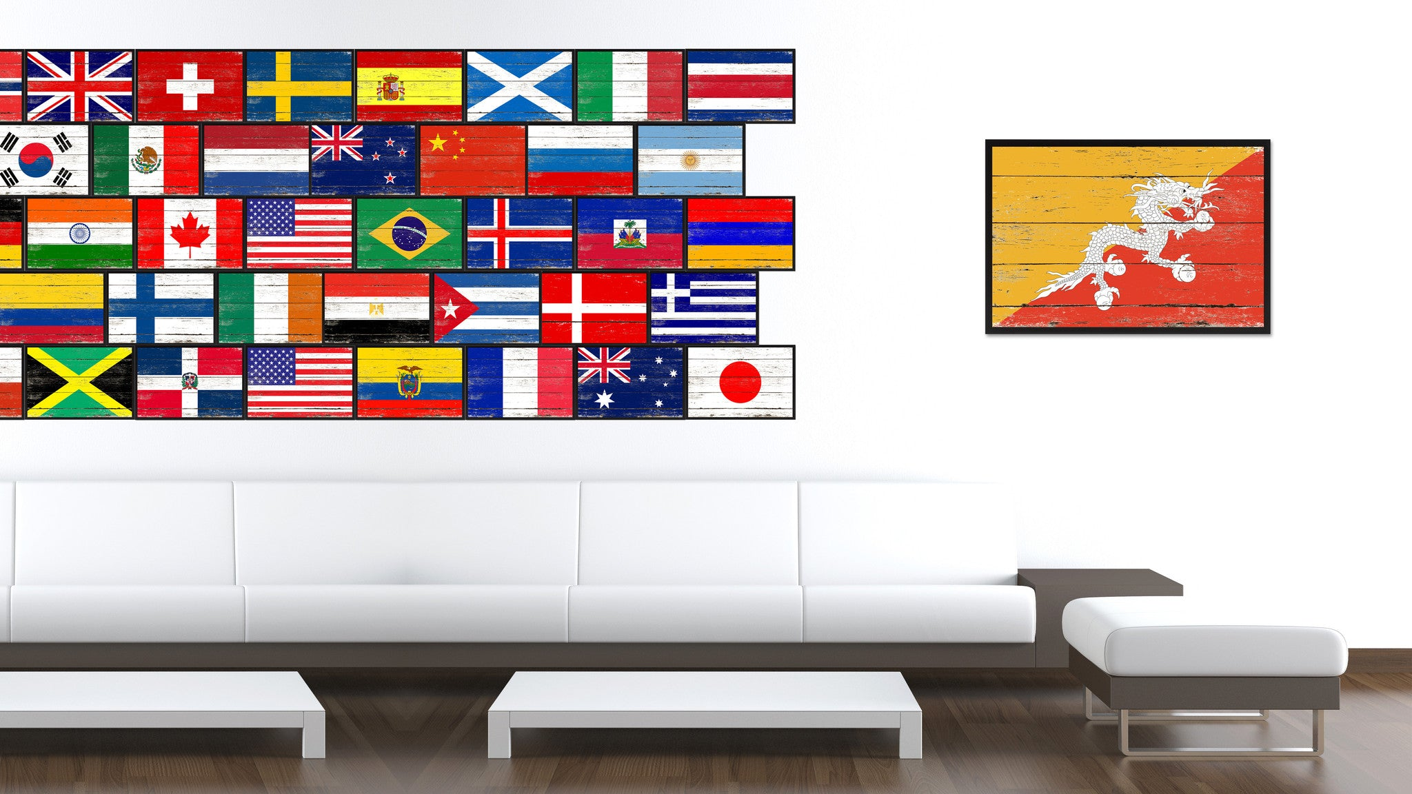 Bhutan Country National Flag Home Decor Gift Ideas Wall Bedroom ...