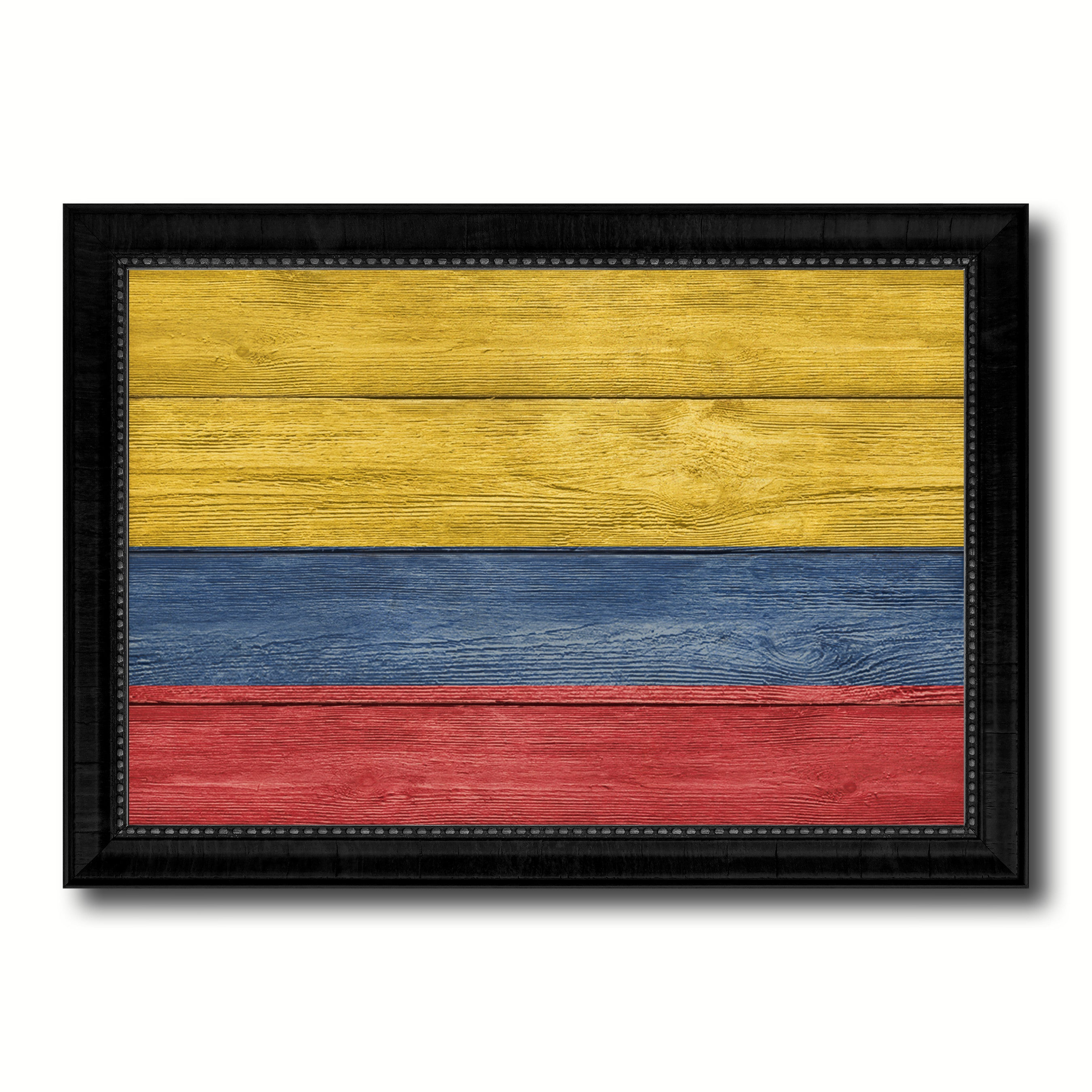 Colombia Country Flag Texture Canvas Print with Black Picture Frame Home Decor Wall Art Decoration Collection Gift Ideas