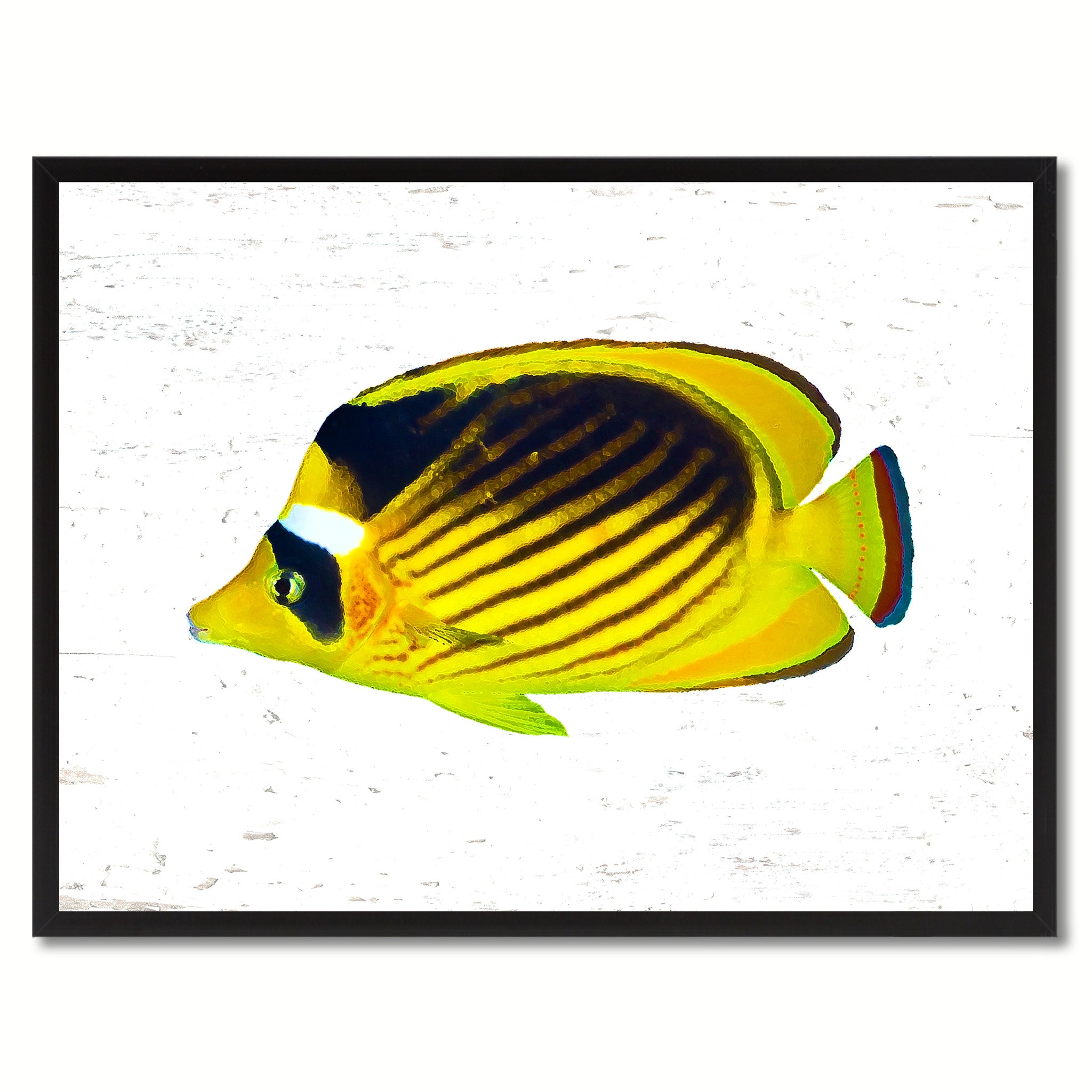 Yellow Tropical Fish Painting Reproduction Canvas Print Home Decor ...