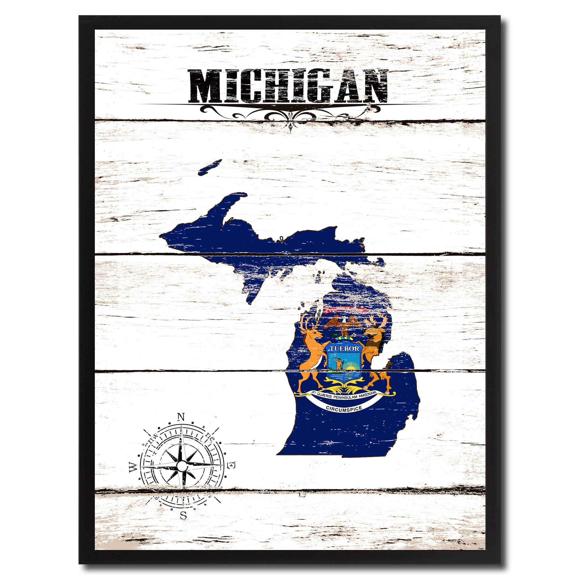 Michigan State Home Decor Office Wall Art Decoration Bedroom Livingroom Gift Ideas SpotColorArt