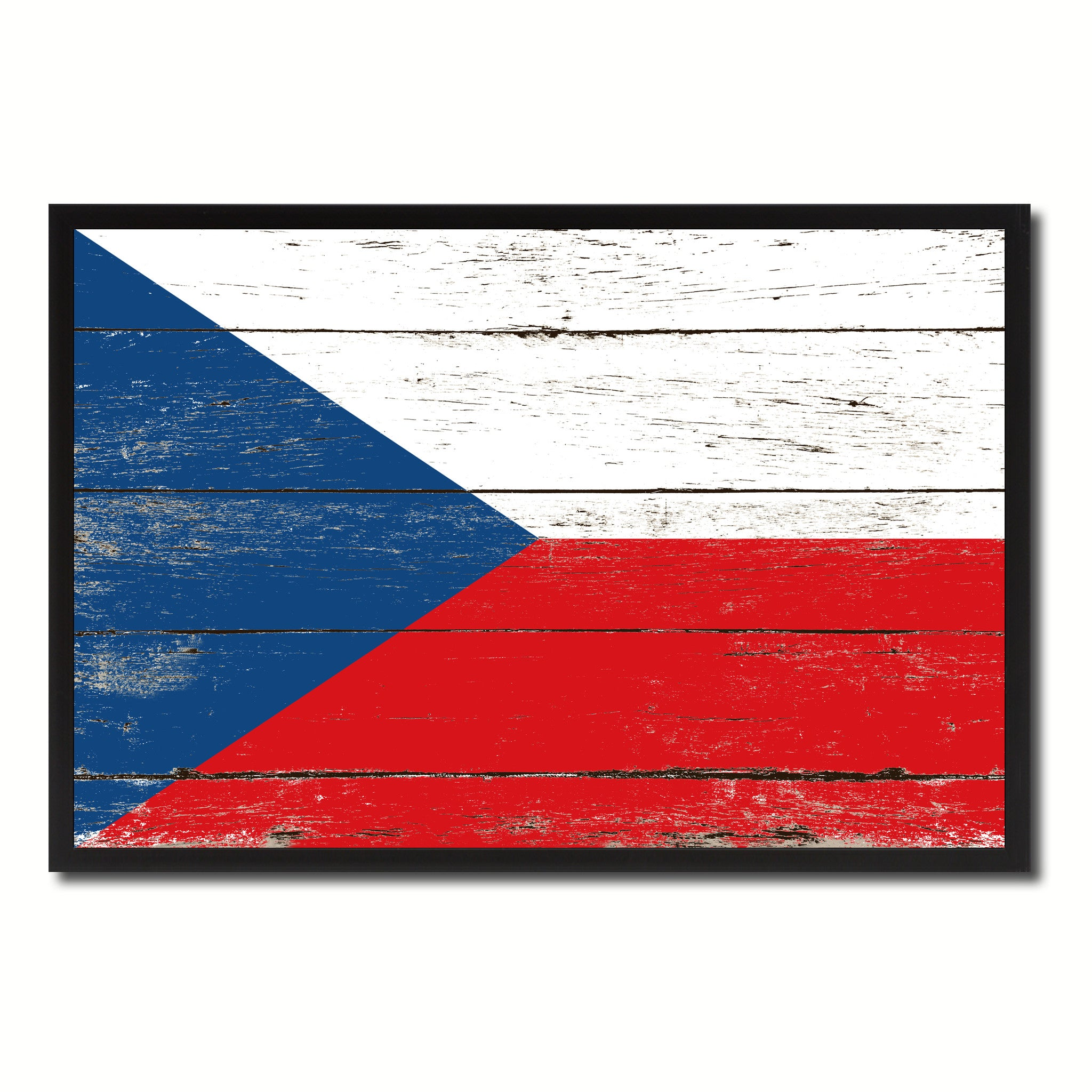 Czech Republic Country National Flag Vintage Canvas Print with Picture Frame Home Decor Wall Art Collection Gift Ideas