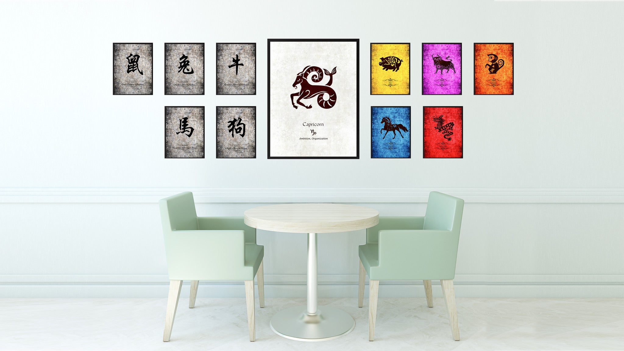 Zodiac Capricorn Horoscope Astrology Canvas Print, Picture Frame Home Decor Wall Art Gift