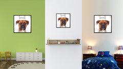 Boxer Dog Canvas Print Picture Frame Gift Home Decor Wall Art Decoration