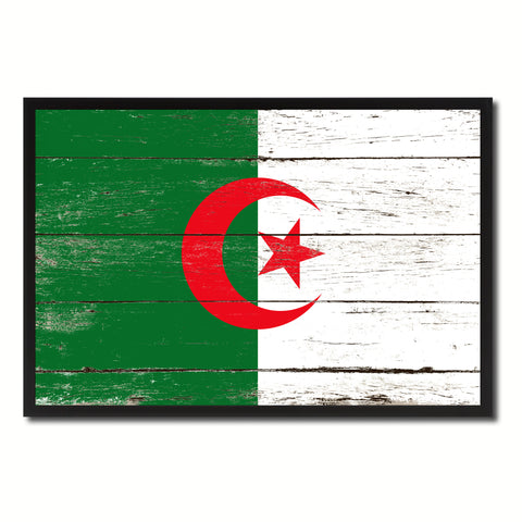 Algeria Country National Flag Vintage Canvas Print with Picture Frame Home Decor Wall Art Collection Gift Ideas