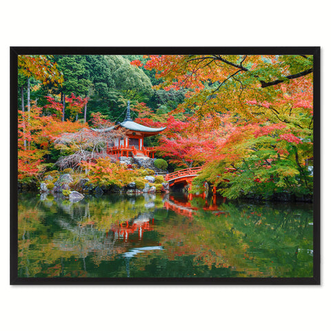 Autumn Daigoji Temple Landscape Photo Canvas Print Pictures Frames Home Décor Wall Art Gifts