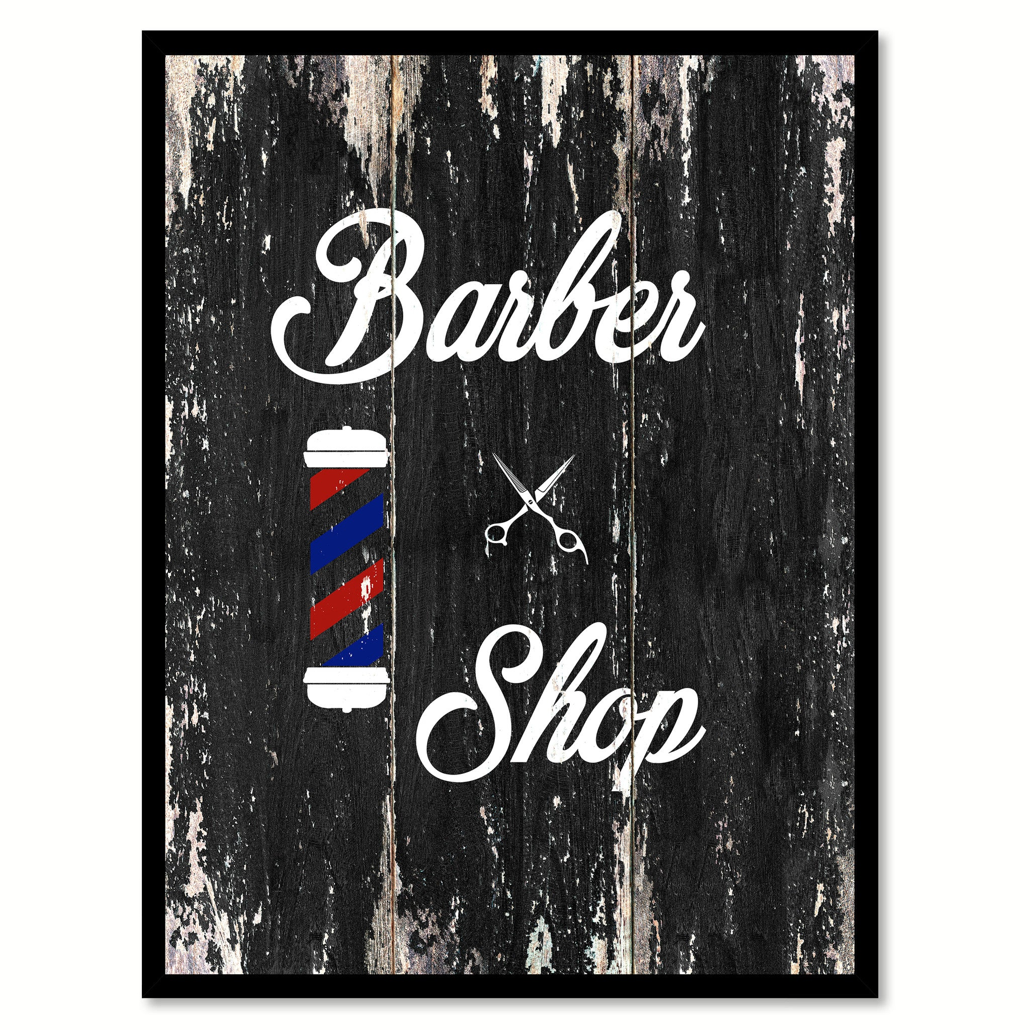 Barber Shop 2  Quote Saying Canvas Print with Picture Frame Home Decor Wall Art