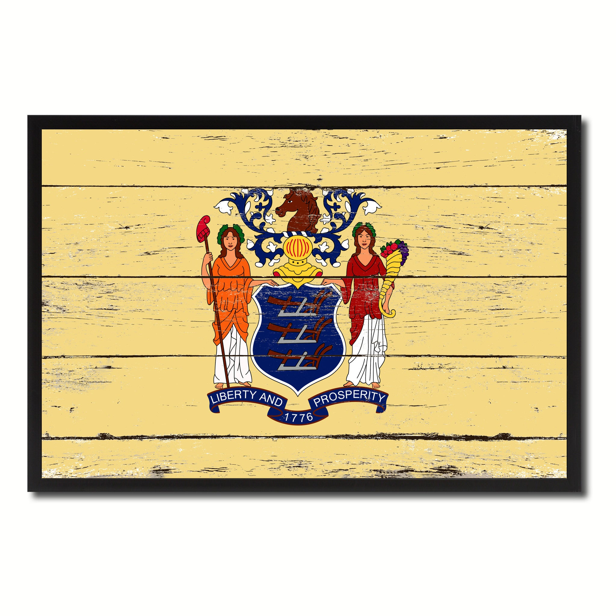 New Jersey State Home Decor Man Cave Wall Art Collectible Decoration ...