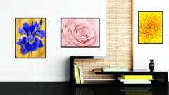 Pink Rose Flower Framed Canvas Print Home Décor Wall Art