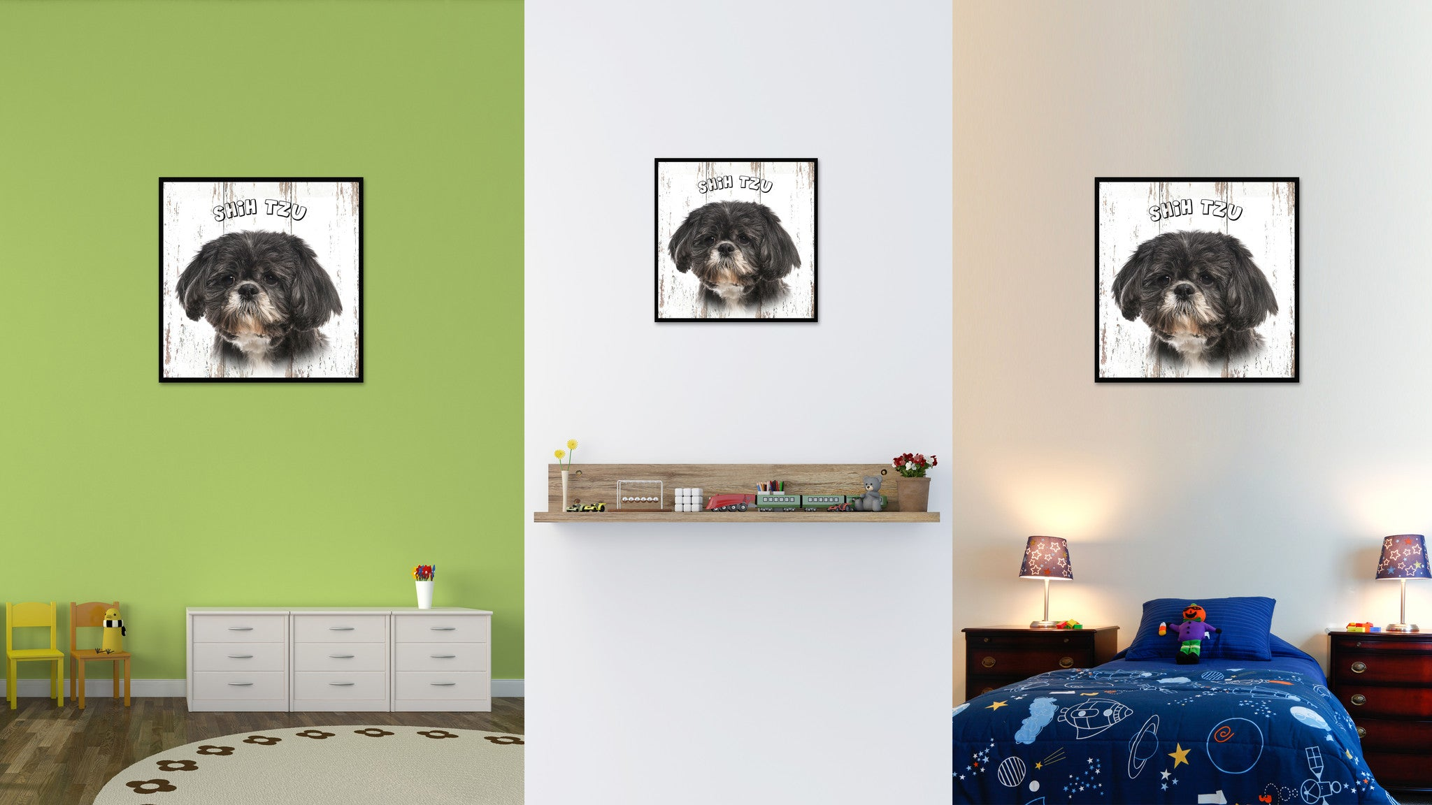 Shih Tzu Dog Canvas Print Picture Frame Gift Home Decor Wall Art Decoration