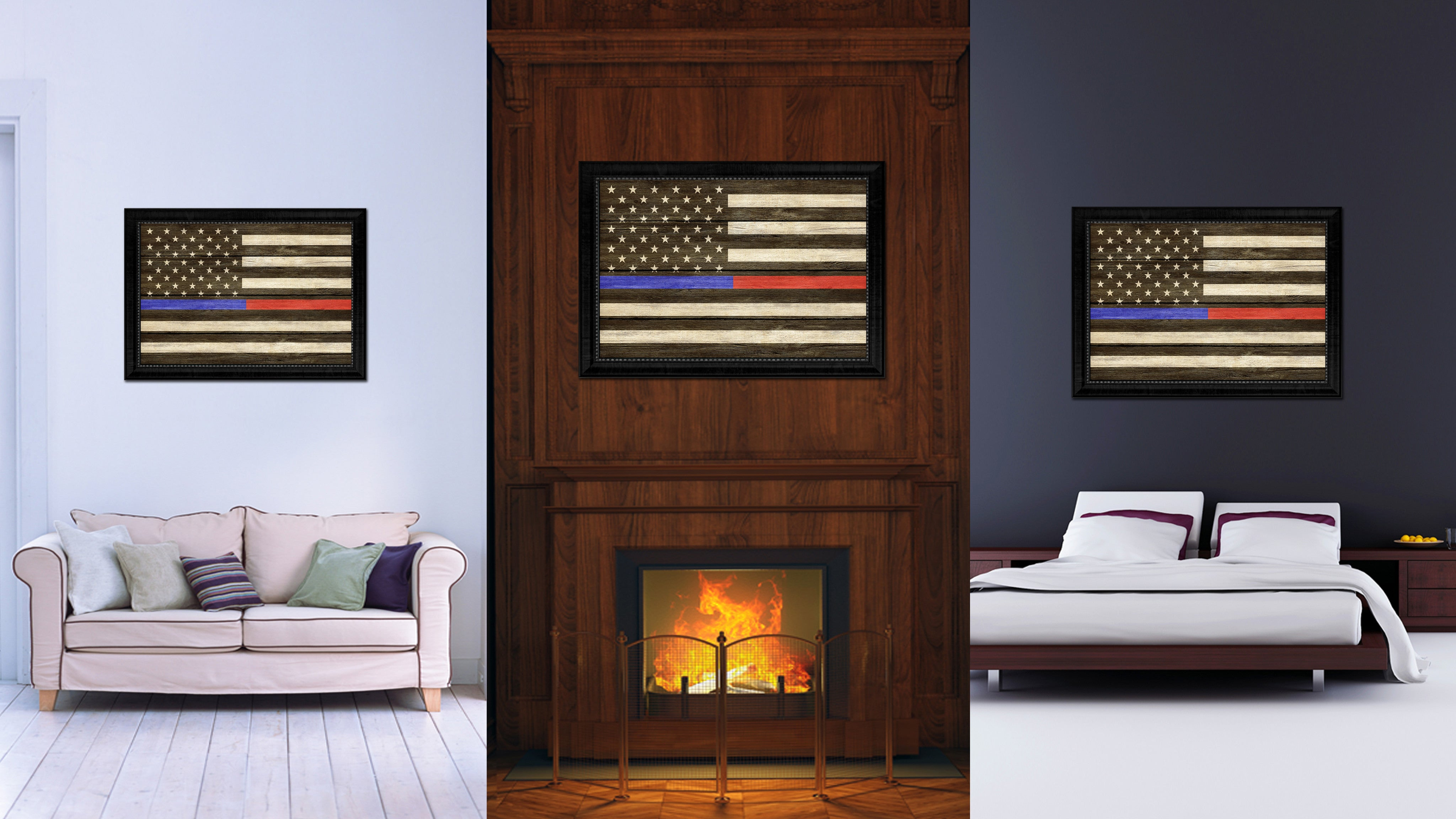 Thin Blue Line Police Thin Red Line Firefighter Respect