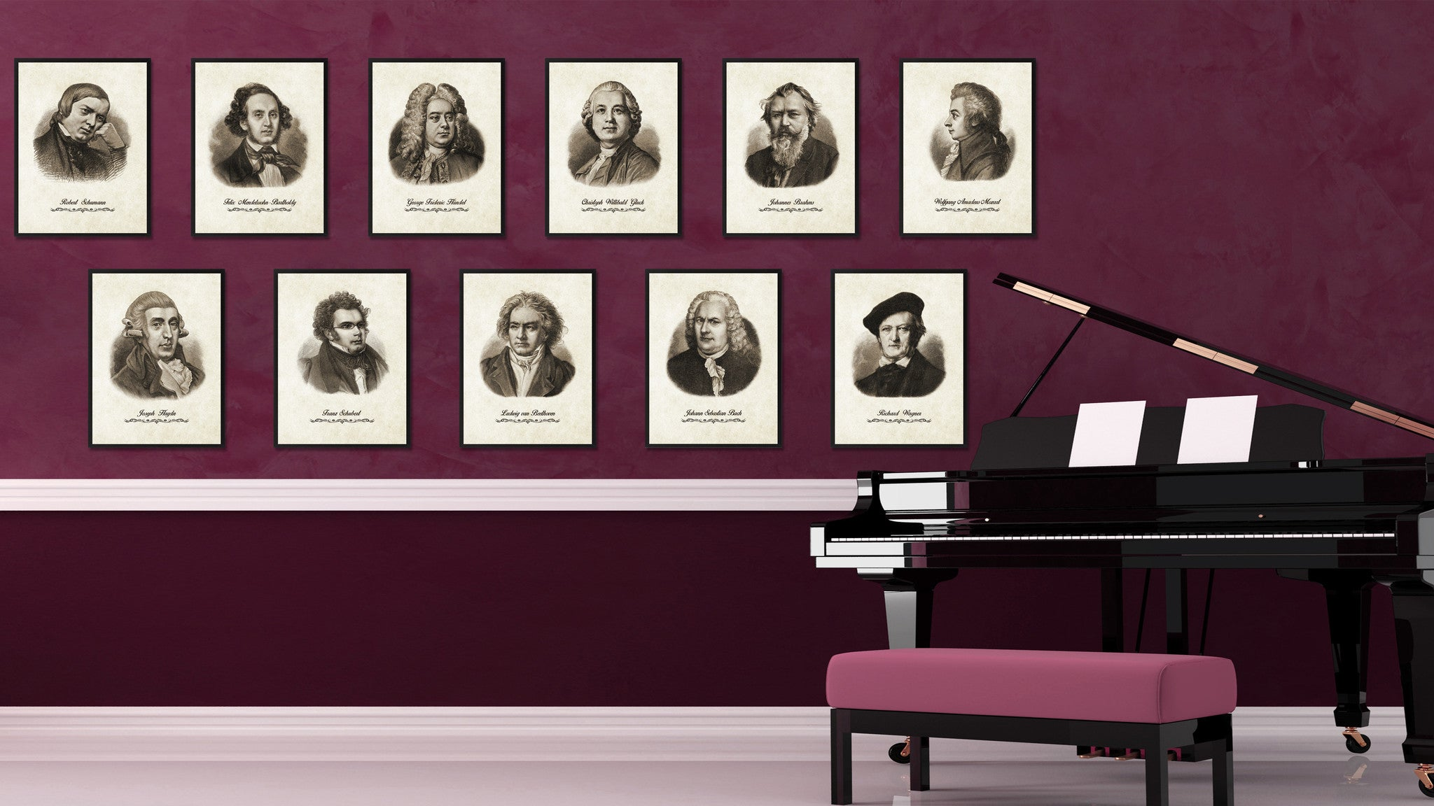 Bach Musician Canvas Print Pictures Frames Music Home Décor Wall Art Gifts