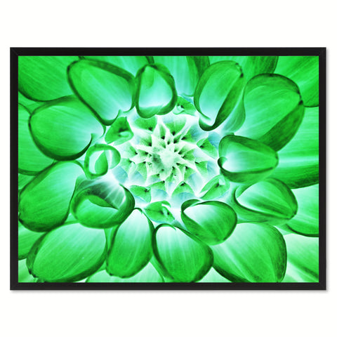 Green Chrysanthemum Flower Framed Canvas Print Home Décor Wall Art