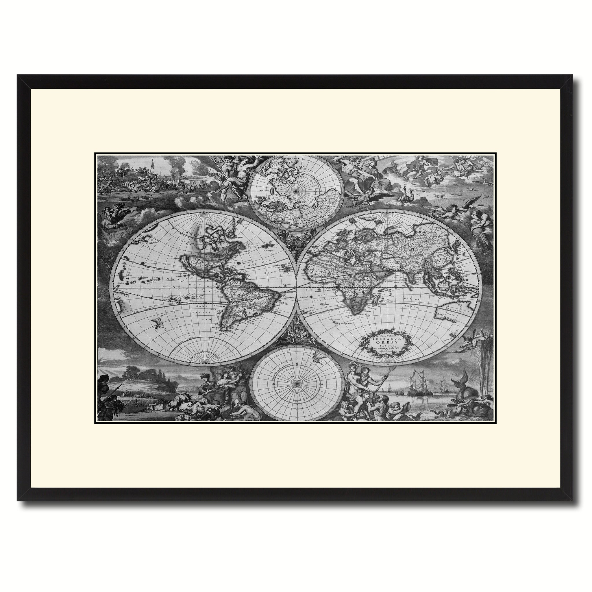 World hemispheres vintage bw map home decor wall art bedroom world hemispheres vintage bw map canvas print picture frame home decor wall art gift ideas gumiabroncs Choice Image