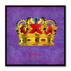 Prince Purple Canvas Print Black Frame Kids Bedroom Wall Home Décor