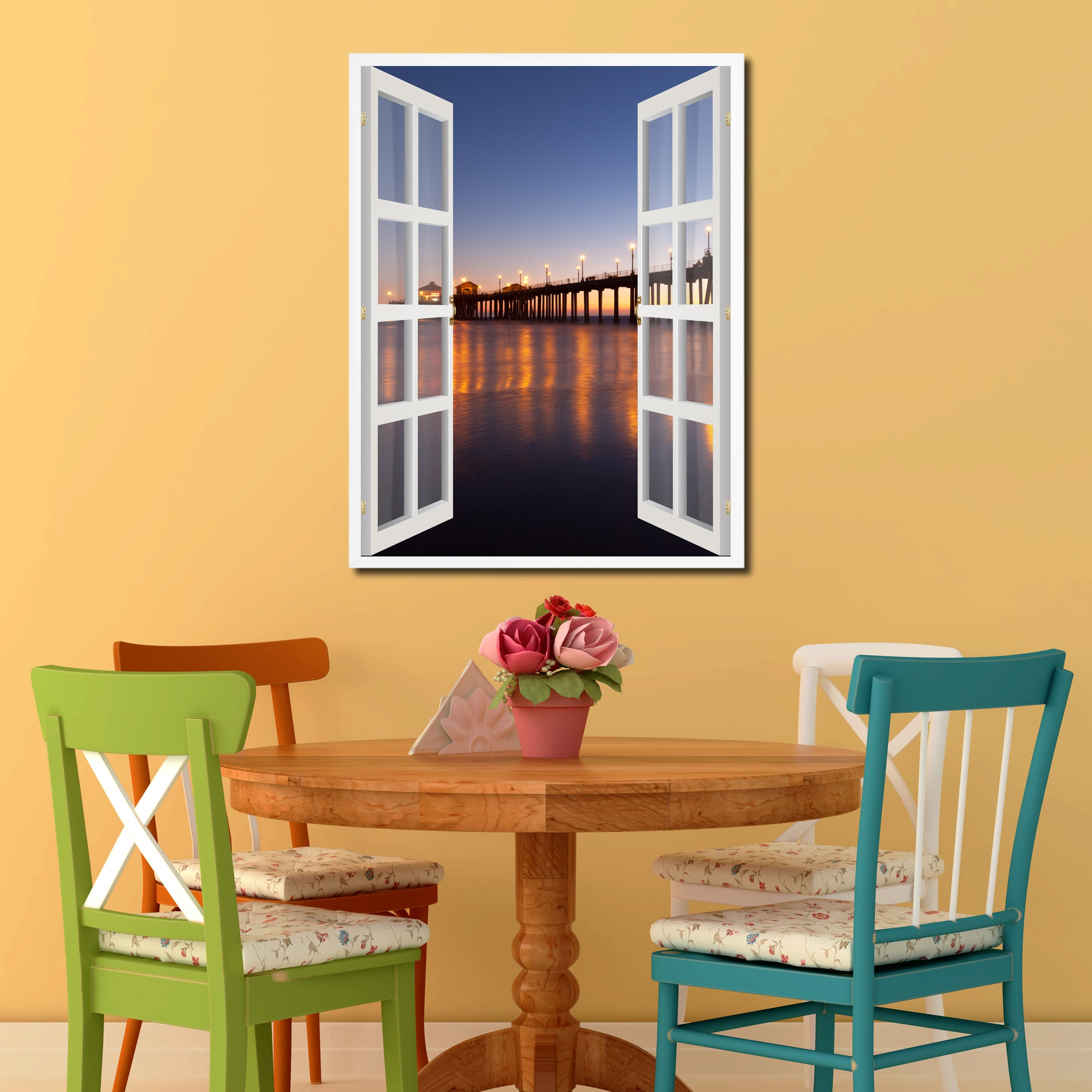 Huntington Beach California Picture Window Wall Art Home Decor Gift ...