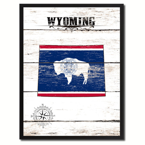 Wyoming State Flag Gifts Home Decor Wall Art Canvas Print Picture Frames